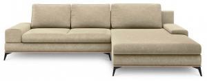 Béžová rozkladacia rohová pohovka Windsor & Co Sofas Planet, pravý roh