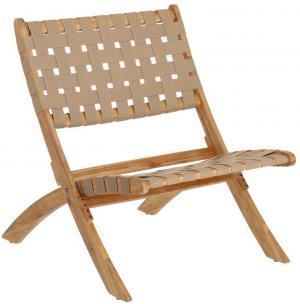 Béžová záhradná skladacia stolička z akáciového dreva La Forma Chabeli