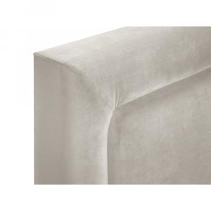 Béžová zamatová dvojlôžková posteľ Mazzini Beds Yucca,200x200cm