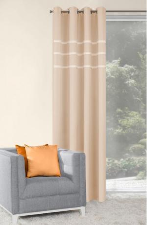 Béžový elegantný záves do spálne