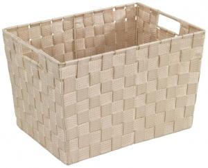 Béžový košík Wenko Adria, 25,5×35 cm