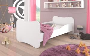 Biela detská posteľ 140x70 cm Bird