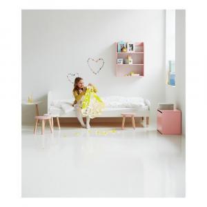 Biela detská posteľ Flexa Dots, 90 x 200 cm