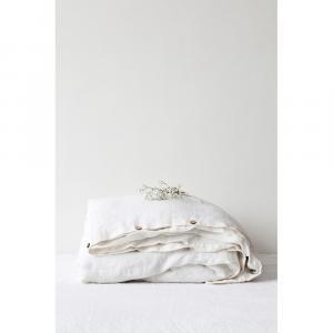 Biela ľanová obliečka na perinu Linen Tales, 200 x 220 cm