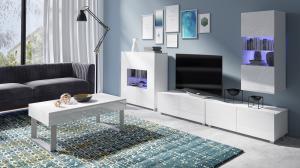 Biela obývacia zostava s komodou Duos