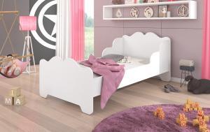 Biela posteľ do detskej izby Belly 160x80 cm