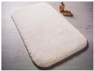 Biela predložka do kúpeľne Confetti Bathmats Miami, 67×120cm