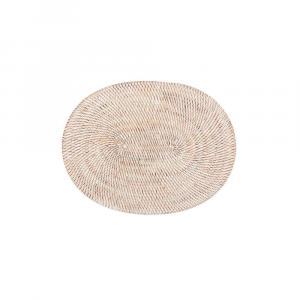 Biele ratanové prestieranie Tiseco Home Studio, 30 x 40 cm