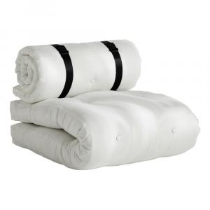 Biele rozkladacie kresielko vhodné do exteriéru Karup Design Design OUT™ Buckle Up White