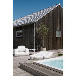Biele rozkladacie kresielko vhodné do exteriéru Karup Design Design OUT™ Hippo White