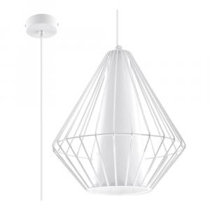 Biele závesné svietidlo Nice Lamps Alfredo