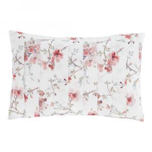 Bielo-červený vankúš Catherine Lansfield Jasmine Floral, 30 x 40 cm