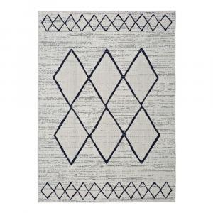 Bielo-sivý vonkajší koberec Universal Elba, 140 x 200 cm