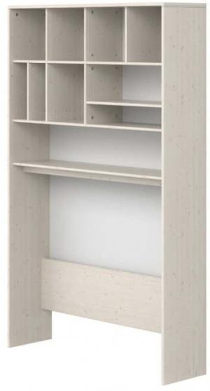 Biely detský policový diel z borovicového dreva Flexa Classic, výška 202,5 cm