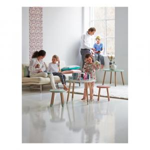 Biely detský stolík Flexa Dots, ø 60 cm