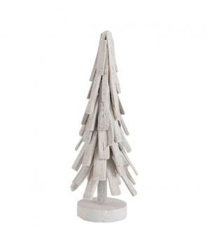 Biely drevený vianočný stromček - Ø 18 * 51 cm
