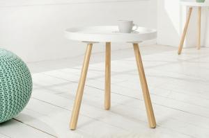Biely konferenčný stolík Scandinavia 40cm »