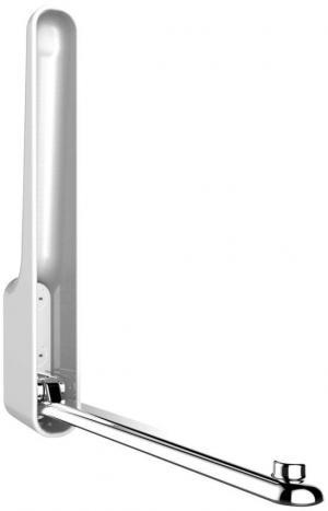 Biely nástenný skladací háčik Wenko Premium OMEGA