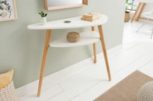 Biely stolík Scandinavia 95cm »