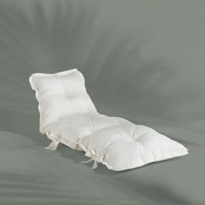 Biely variabilný futón vhodný do exteriéru Karup OUT™ Sit&Sleep White