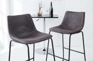 Bighome - Barová stolička RANGO - vintage sivá