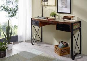 Bighome - INDUSTRY Písací stôl 135x50 cm, staré drevo