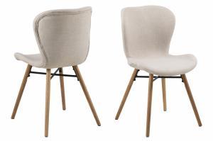 Jedálenská stolička BATILDA, piesková, prírodná
