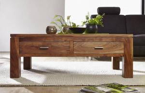 Bighome - KOLINS Konferenčný stolík so zásuvkami 110x60 cm, akácia