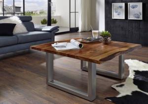 METALL Konferenčný stolík - lakovaný 90x90 cm, akácia