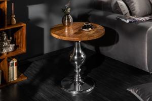 Bighome - Príručný stolík EXTRAVAGANCE  51 cm - prírodná