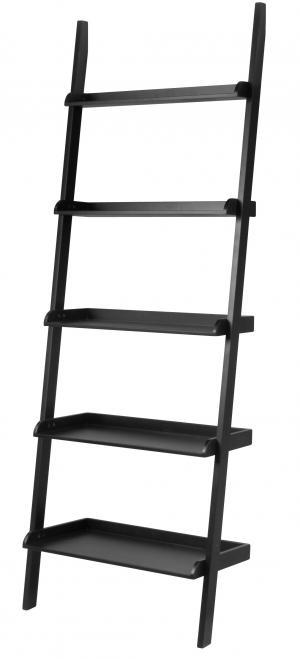 Regál WALL 189x66 cm, čierna