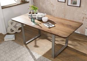 Bighome - ROUND Jedálenský stôl 177x90 cm, hnedá, palisander