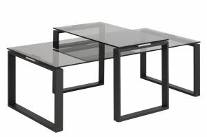 Set konferenčných stolíkov KATRINE, antracitová