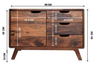 SKANE Komoda 65x90 cm, palisander, hnedá