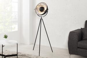 Bighome - Stojaca lampa SADO - čierna, strieborná