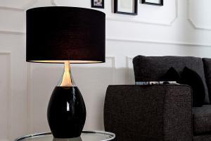 Bighome - Stolná lampa CARLY 60 cm - čierna