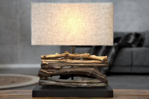Bighome - Stolná lampa LUPUS III - béžová