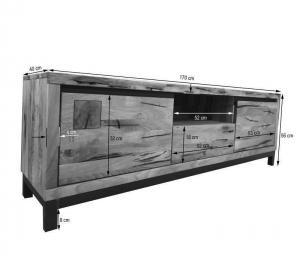 Bighome - TIROL II. TV stolík 170x56 cm, svetlohnedá, dub