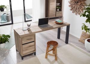 Bighome - TIROL Písací stôl 220x55 cm, svetlohnedá, dub