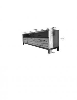 Bighome - TIROL TV stolík 170x56, svetlohnedá, dub