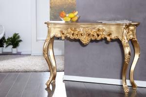 Bighome - Toaletný stolík VENICE GOLD - zlatá