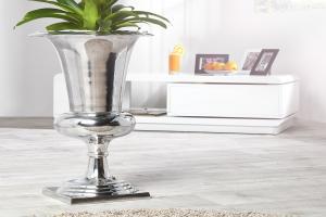Bighome - Váza SHINY 75 cm - strieborná