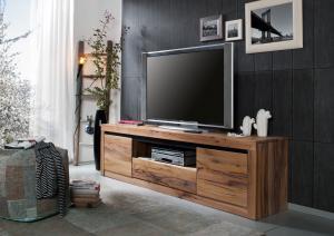VEVEY TV stolík 202x55 cm, prírodná, dub