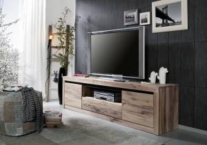 Bighome - VEVEY TV stolík 202x55 cm, svetlohnedá, dub