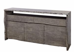 WOODLAND Komoda 191x96 cm, sivá, akácia