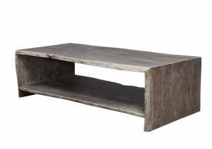 WOODLAND Konferenčný stolík s poličkou 120x60 cm, sivá, akácia