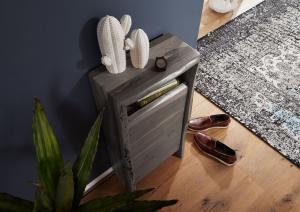 Bighome - WOODLAND Skrinka 40x80 cm, sivá, akácia