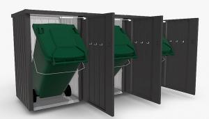 Biohort Box na smetiaku BIOHORT Alex 3 (tmavo šedá metalíza)