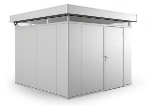 Biohort Záhradný domček BIOHORT CasaNova 330 x 330 (strieborná metalíza) orientace dveří vľavo