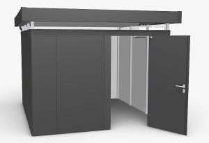 Biohort Záhradný domček BIOHORT CasaNova 330 x 330 (tmavo sivá metalíza) orientace dverí vľavo